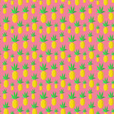 Colorful summer pineapples. Seamless pattern with abstract exotic fruits Royalty Free Stock Images