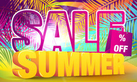 Colorful Summer Sale Banner Stock Images