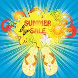 Colorful summer sale template Royalty Free Stock Images
