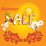 Colorful summer sale template. Colorful beautiful summer sale template Royalty Free Stock Photography