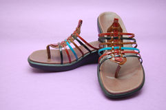 Colorful summer sandals Royalty Free Stock Image
