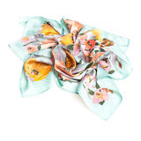 Colorful summer scarf isolated on white Stock Photography