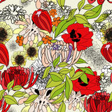 Colorful summer seamless pattern. Colorful illustration Royalty Free Stock Photography