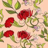 Colorful summer seamless pattern. Universal template for greeting card, web page, background Stock Image