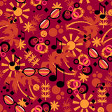 Colorful summer seamless pattern Stock Images