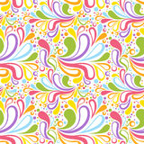 Colorful summer seamless pattern with floral curve Royalty Free Stock Photos