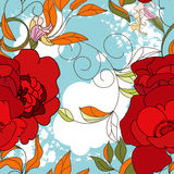 Colorful summer seamless wallpaper. Colorful illustration Royalty Free Stock Photography