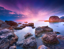 Colorful summer seascape Royalty Free Stock Image