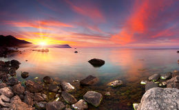 Colorful summer seascape Stock Images