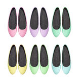Colorful summer shoes flat shoes Stock Photos