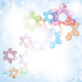 Colorful summer spring background with flowers Royalty Free Stock Photos
