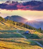 Colorful summer sunrise Stock Photography