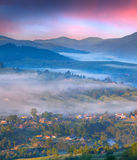 Colorful summer sunrise in the mountains Royalty Free Stock Photos