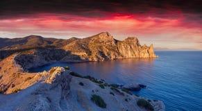 Colorful summer sunrise Royalty Free Stock Image