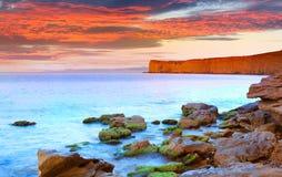 Colorful summer sunrise on sea Royalty Free Stock Image