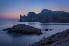 Colorful summer sunrise on the sea Stock Image
