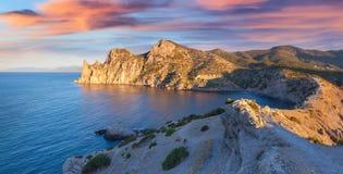 Colorful summer sunrise on the sea. Stock Photo
