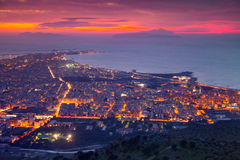 Colorful summer sunset on the town Trapani Royalty Free Stock Photography