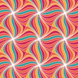 Colorful summer swirl strip seamless pattern background. Abstrac Royalty Free Stock Photos