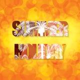 Colorful summer text . Holiday warm orange background Royalty Free Stock Photo