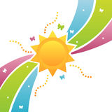 Colorful sun background Royalty Free Stock Photos
