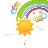 Colorful sun background Stock Photography