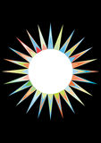 Colorful sun and moon Stock Image