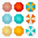 Colorful Sun Umbrella Set. Vector Stock Photo