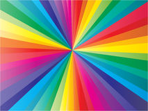 Colorful sunbeam. Nice colorful sunbeam vector illustration Stock Images
