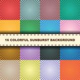 Colorful sunburst Royalty Free Stock Images