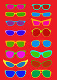 Colorful Sunglases Collection Royalty Free Stock Photography