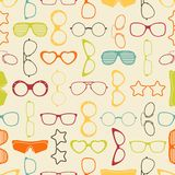 Colorful sunglasses and glasses seamless pattern Stock Images