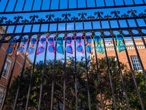 Colorful Sunglasses. On the Metal Fence in San Francisco Royalty Free Stock Images