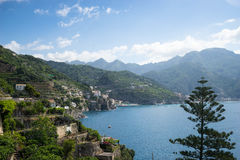 Colorful sunny Amalfi Royalty Free Stock Photos