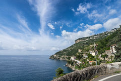 Colorful sunny Amalfi Royalty Free Stock Photography
