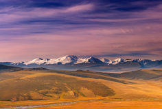Colorful sunrise. In Altai mountains Royalty Free Stock Image