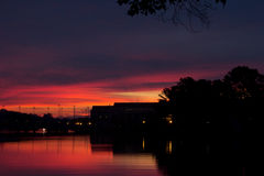 Colorful sunrise in Annapolis, MD. Colorful sunset in Annapolis, MD near the U.S. Naval Academy Royalty Free Stock Image