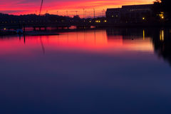 Colorful sunrise in Annapolis, MD. Colorful sunset in Annapolis, MD near the U.S. Naval Academy Stock Photography