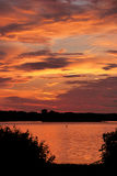 Colorful sunrise in Annapolis, MD. Colorful sunset in Annapolis, MD in a waterfront park Stock Image