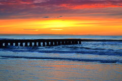 Colorful sunrise at the beach Royalty Free Stock Photography