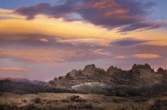 Colorful Sunrise Clouds over Loveland`s Devil Backbone Open Space. Devils Backbone located in Loveland Colorado is a popular hiking area for the locals royalty free stock images