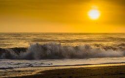 Colorful Sunrise on the East Coast of Florida Stock Image