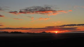 Colorful sunrise, Lithuania Royalty Free Stock Photography