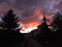 Colorful sunrise, Lithuania Stock Photo