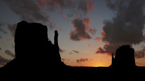 Colorful sunrise at Monument Valley Royalty Free Stock Photo
