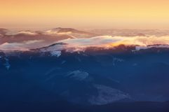 Colorful sunrise in the mountains Royalty Free Stock Photo