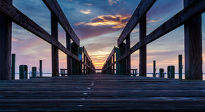 Colorful sunrise over the Chesapeake Bay dock. Colorful sunrise at the dock, Havre de Grace, MD Stock Images