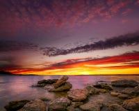 Colorful Sunrise Over the Lake royalty free stock image