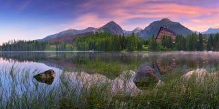 Colorful sunrise over the lake Royalty Free Stock Photo