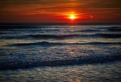 Colorful sunrise over the sea Stock Image